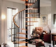 Gamia deluxe black spiral staircase