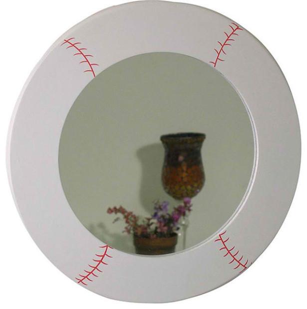 baseball framed mirror design