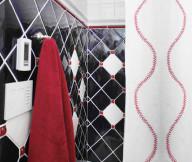 baseball themed bathrom tiles