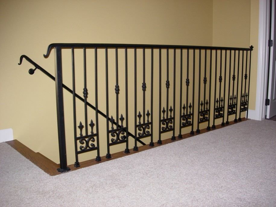 black metal handrails