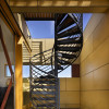 black metal spiral staircase