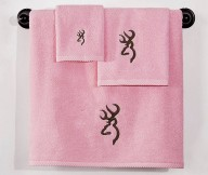 browning buckmark towel set brown on pink