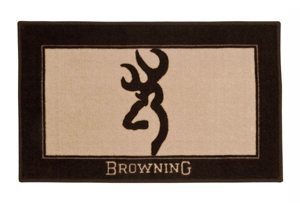 browning logo bathroom rug