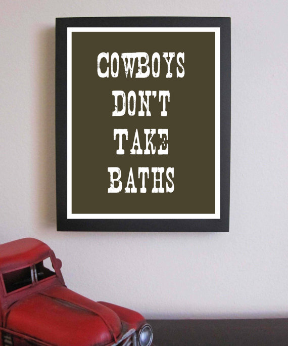 cowboy bathroom wall decor