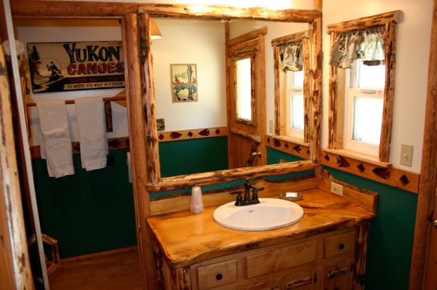 find cabin bathroom decor