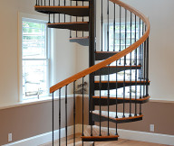 forged iron spiral staircase