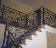 ideas for wrought iron stair railing