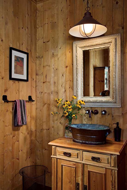 rustic accessories for cabin bathroom decor