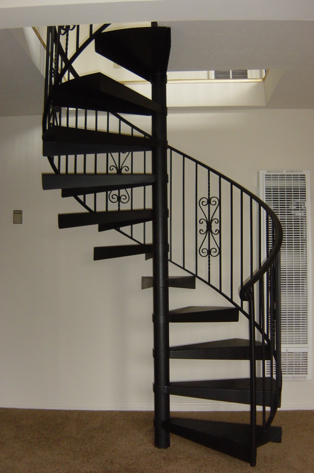 steel spiral staircase