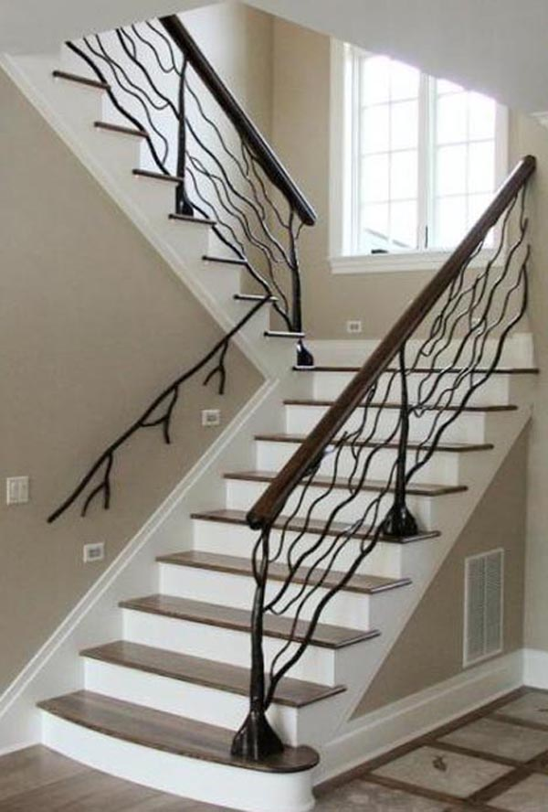 twig decoration handrails stairs