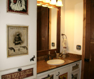 western bathroom interior