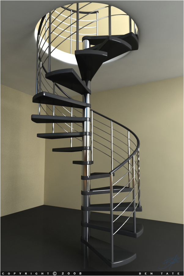 Cheap metal spiral staircase for Aluminum spiral staircase prices
