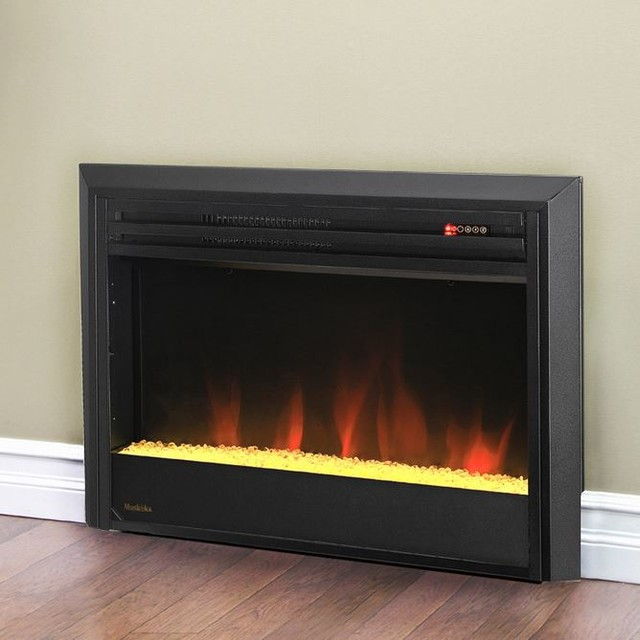 Contemporary electric fireplace inserts for Contemporary fireplace insert