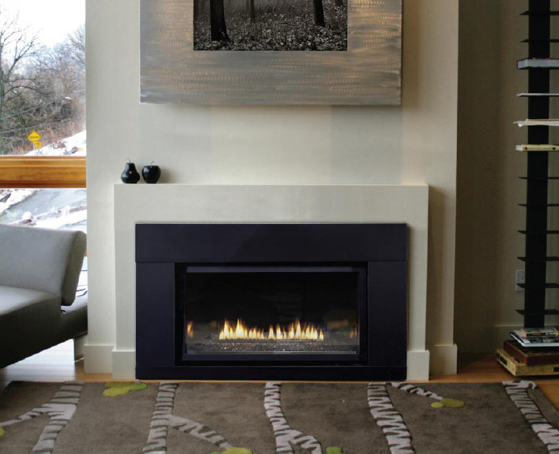 Modern fireplace for Contemporary fireplace insert