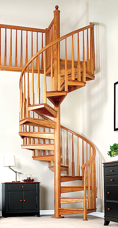 Spiral stairs cheap for Pre built stairs interior