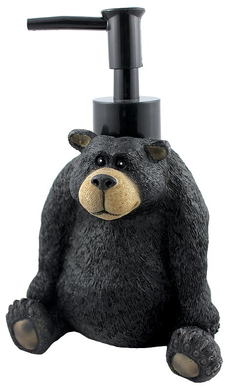 black bear bathroom soap pump