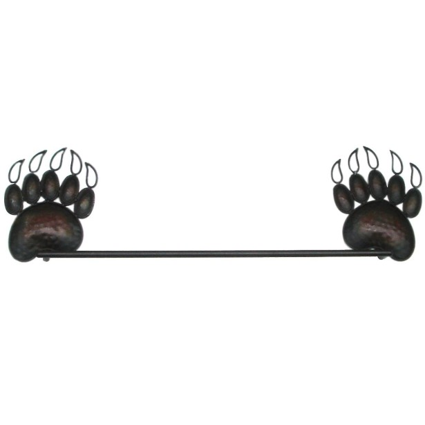 black bear towel rack
