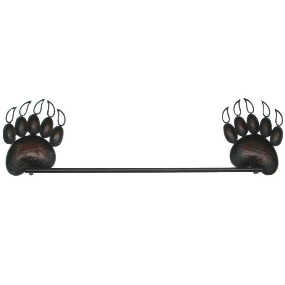 black bear towel rack