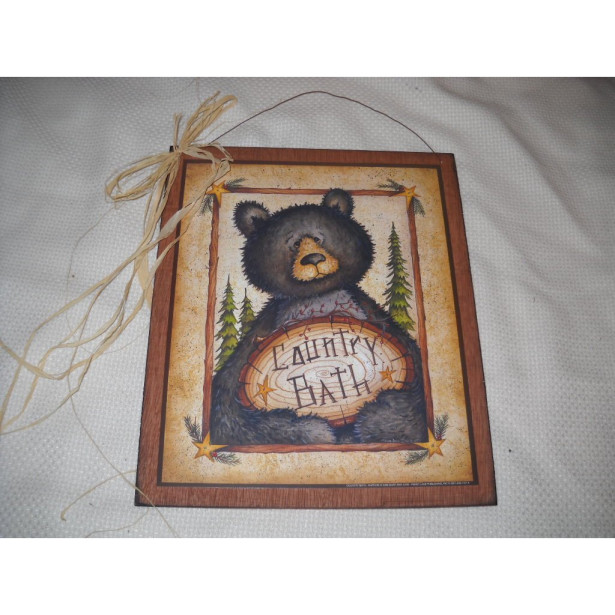 black bear wall hanging decor