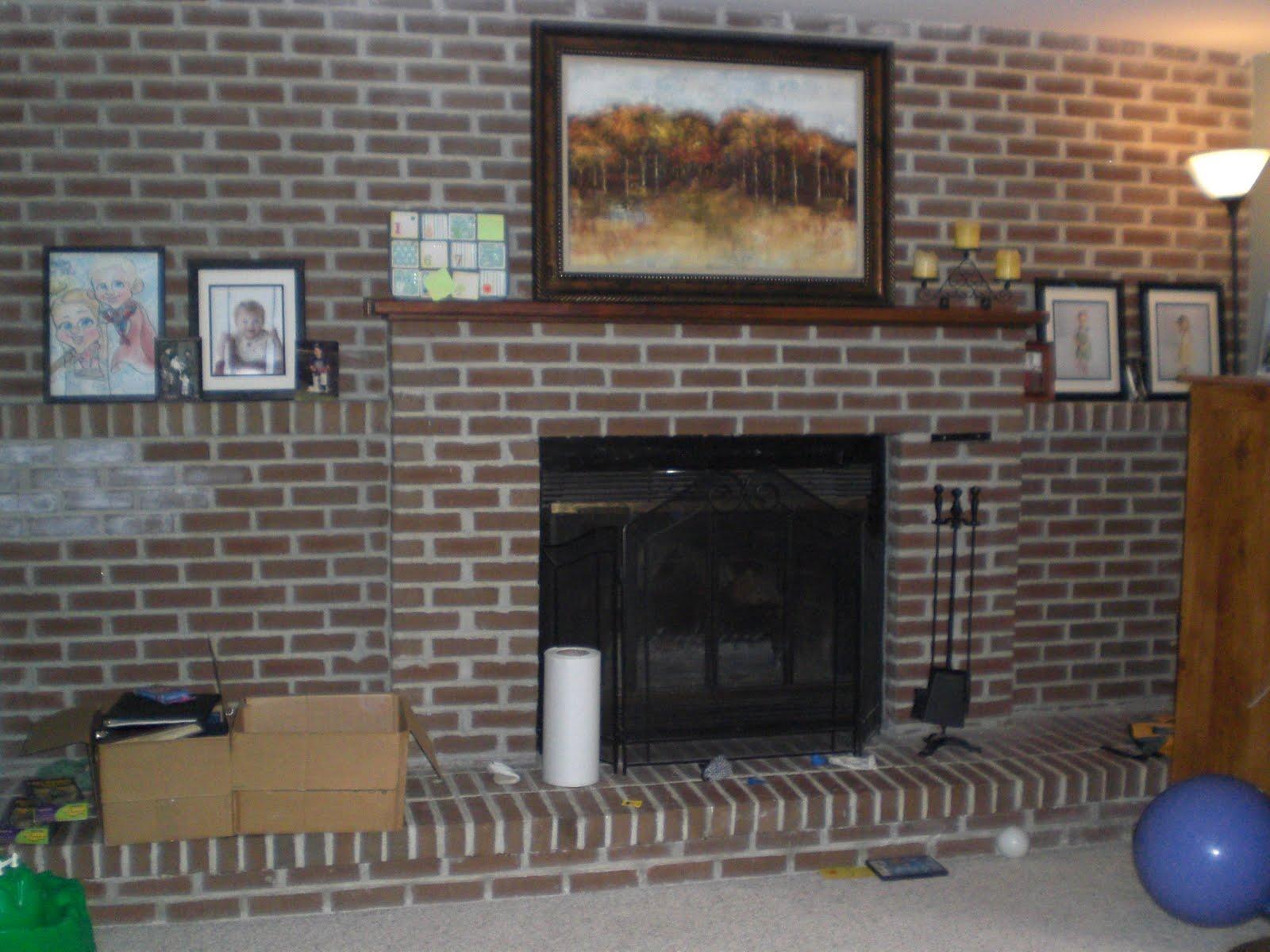 How To Make A Quick Brick Fireplace Makeover KVRivercom