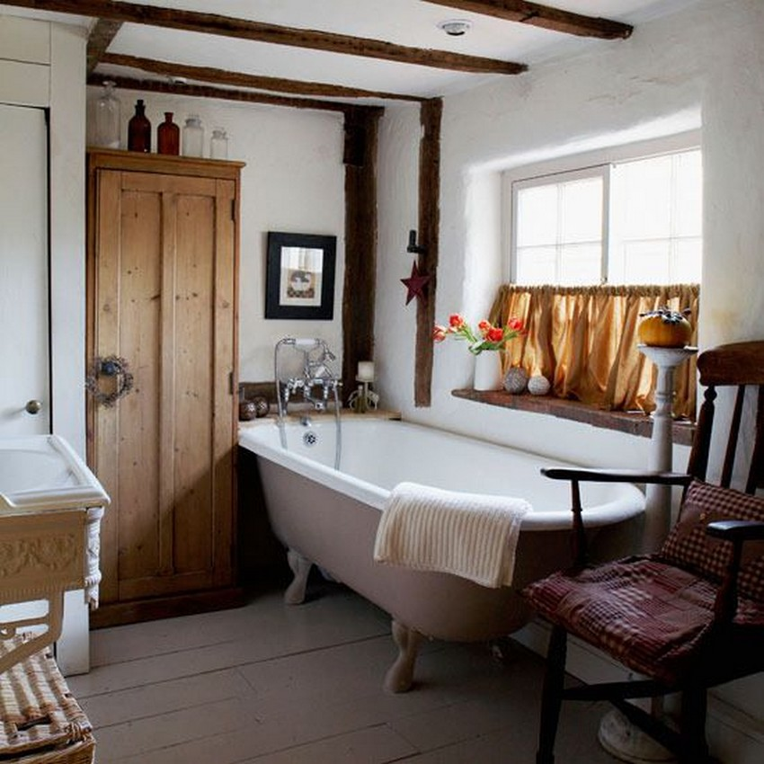 country bathroom decor