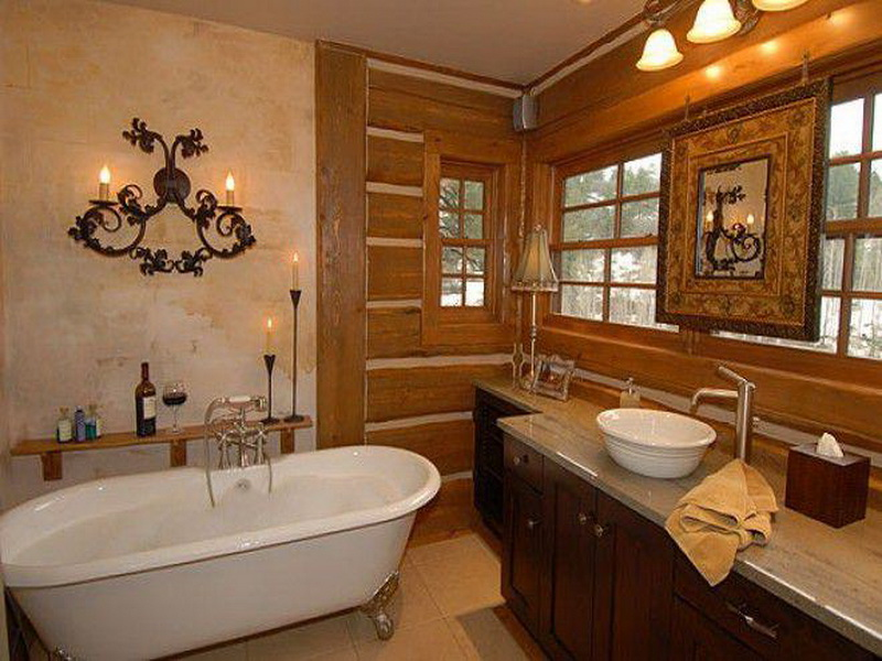country bathroom wall decor