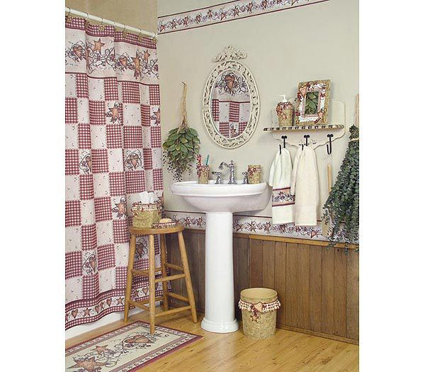 Country star bathroom decor for Country bathroom ideas