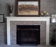 makeover brick fireplace