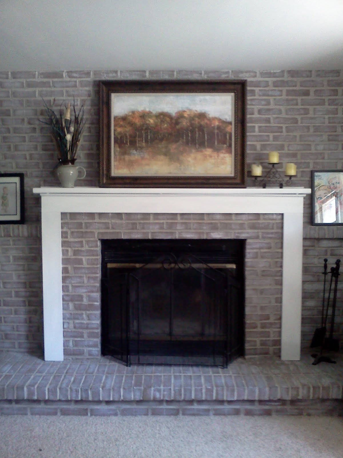 how to paint red brick fireplace white | american hwy