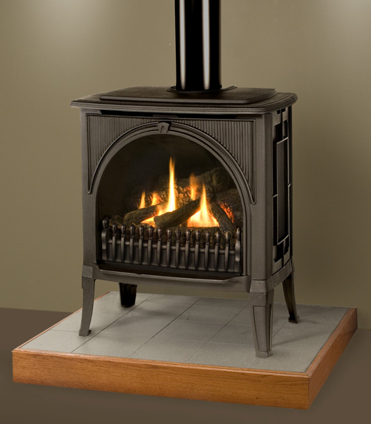 Free Standing Gas Fireplaces