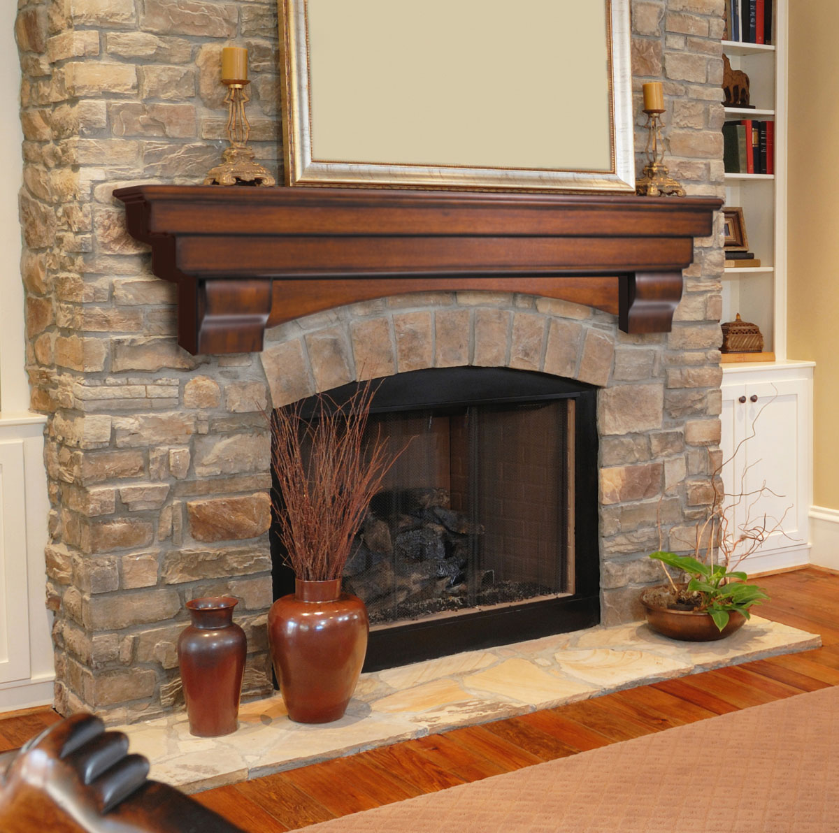 Tips on how to find the best fireplace mantels and surrounds - Images of stone fireplaces ...