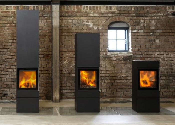 Freestanding gas fireplaces indoor Free standing fireplace