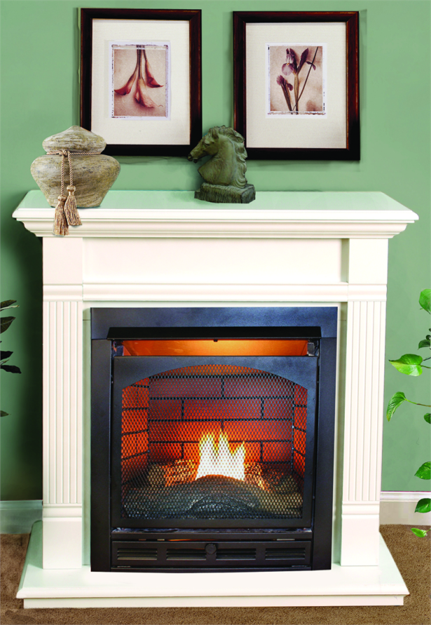Heat Glow Vented Gas Fireplace