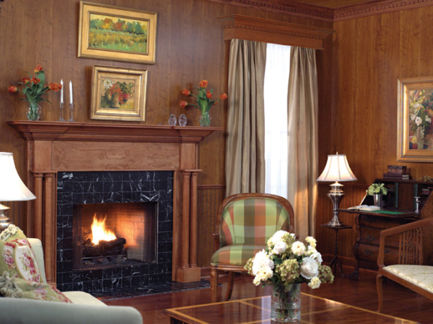 Traditional Fireplace Mantels and Surrounds