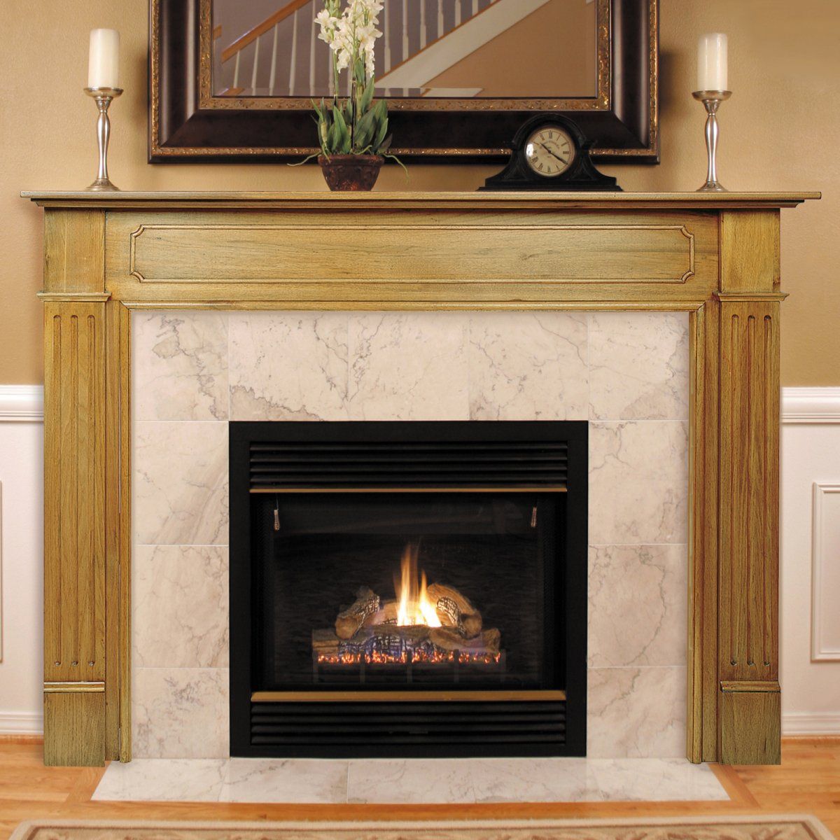 Wood Fireplace Mantels and Surrounds