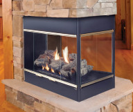 gas fireplace vented