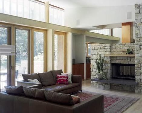 Cozy interior Fireplace