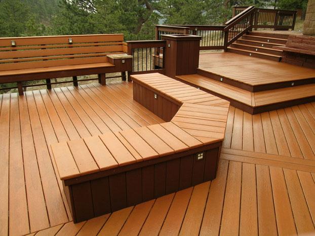 Deck Bench Seat Decorating