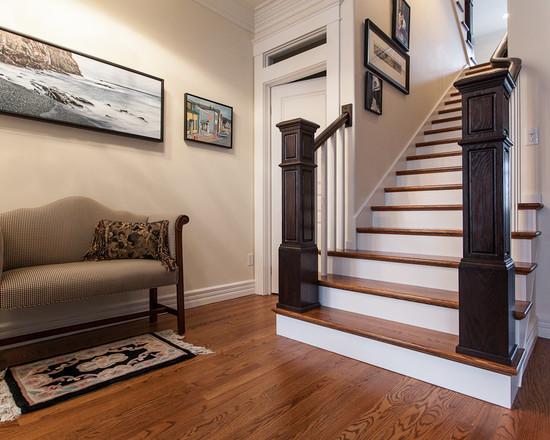 Hardwood Stairs Design Traditional