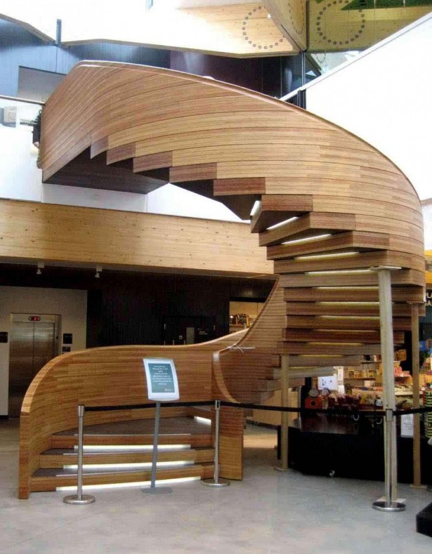 Hardwood Stairs Design Wooden