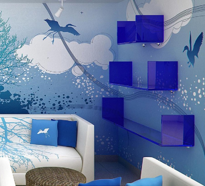 Interior Decoration Themes Blue Sky