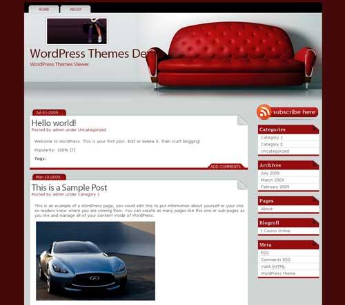 Interior Design Magazine free Wordpress