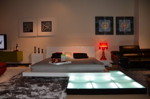 Modern Bed with Light