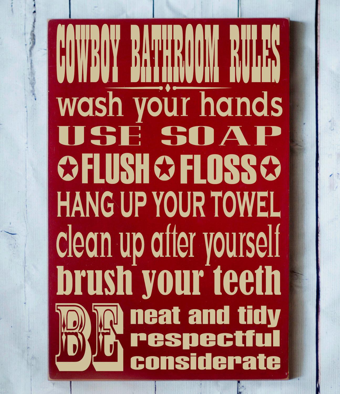 Western Cowboy Bathroom Decor