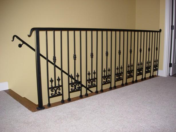 black metal handrails