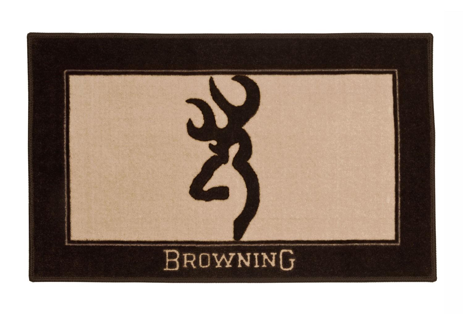 browning logo bathroom rug