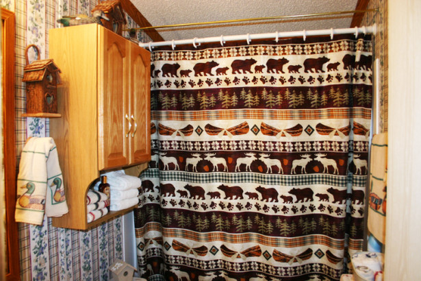 cabin bathroom shower curtain