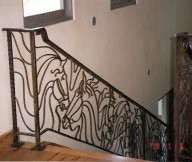 cost of wrought iron stair railing