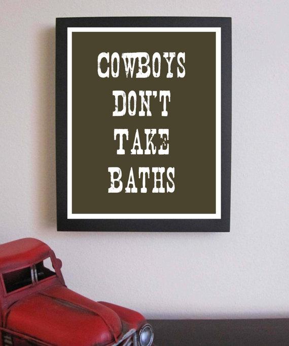 cowboy bathroom wall decor