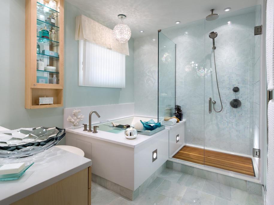 glass bathroom decorations